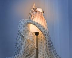 brennende Lampe