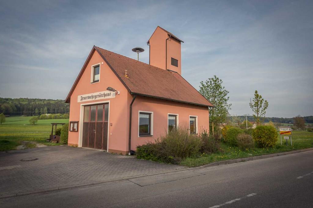 Feuerwehrgerätehaus in Ungetsheim bei Feuchtwangen