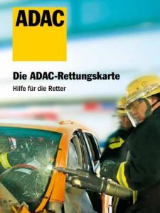 Bild Flyer ADAC Rettungskarte Feuerwehr Ungetsheim