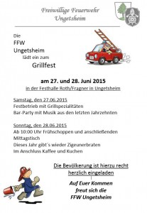Grillfest und Fahrzeug-Einweihung