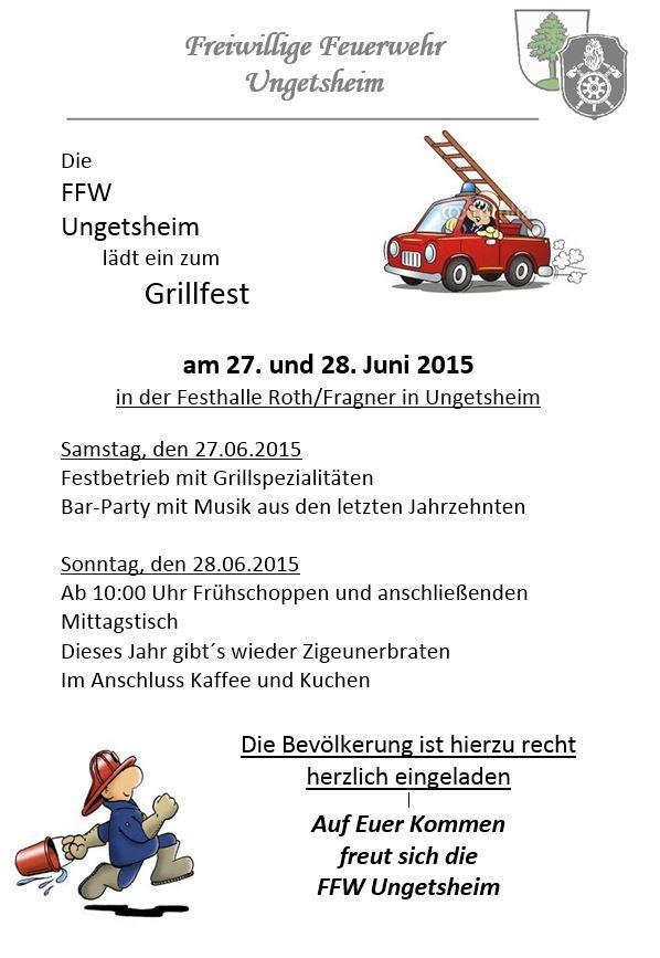 Einladung Grillfest Ungetsheim