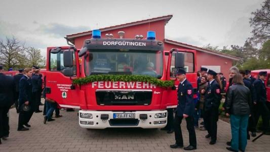 Einweihung Feuerwehrauto Dorfgütingen 5