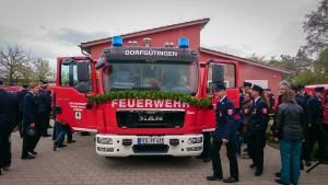Einweihung Feuerwehrauto Dorfgütingen