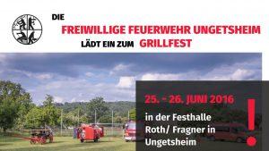 Einladung Grillfest Feuerwehr Ungetsheim 2016