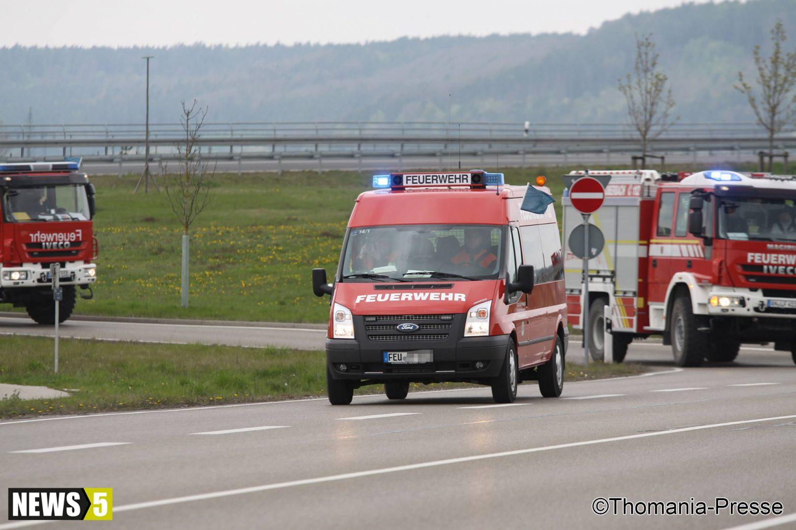 Katastrophenschutzübung im Landkreis Ansbach