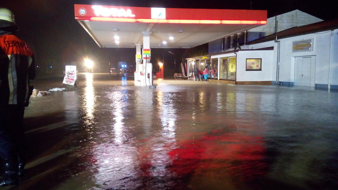 Hochwasser Dorfgütingen 31.12.2017