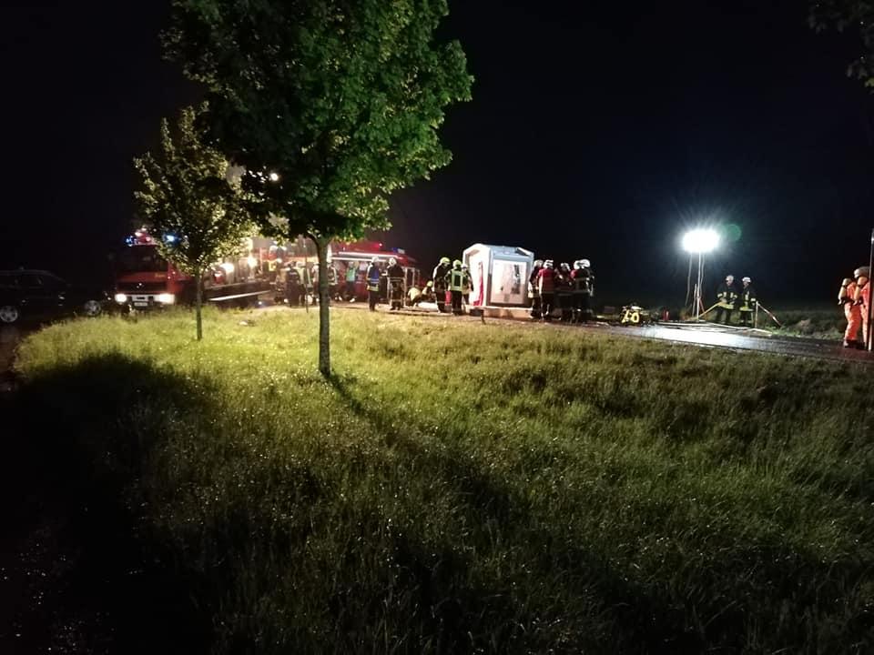 Verkehrsunfall Gefahrgut B25 21.05.2019