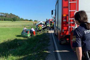 Verkehrsunfall – Person eingeklemmt – 12.06.2020