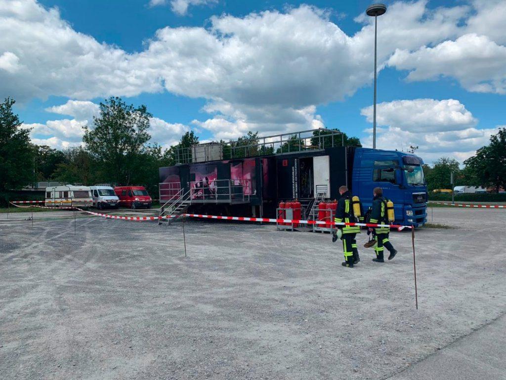 Der Brandcontainer in Feuchtwangen