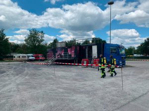Der Brandcontainer in Feuchtwangen