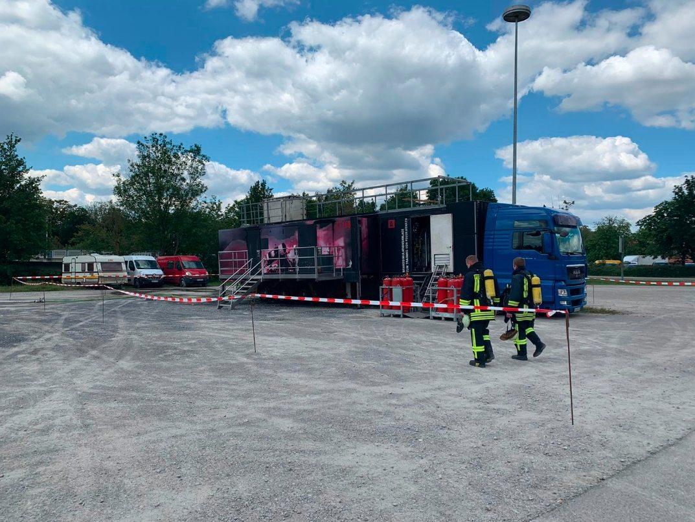 Brandcontainer Feuchtwangen 18.07.2020