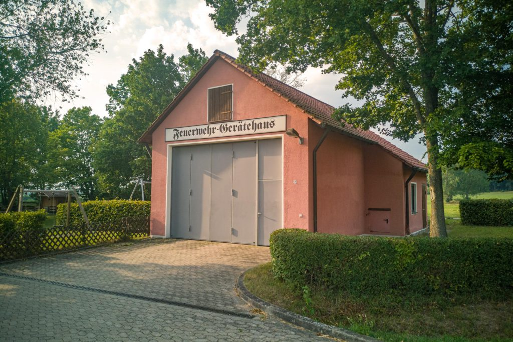 Das Feuerwehrhaus in Breitenau bei Feuchtwangen