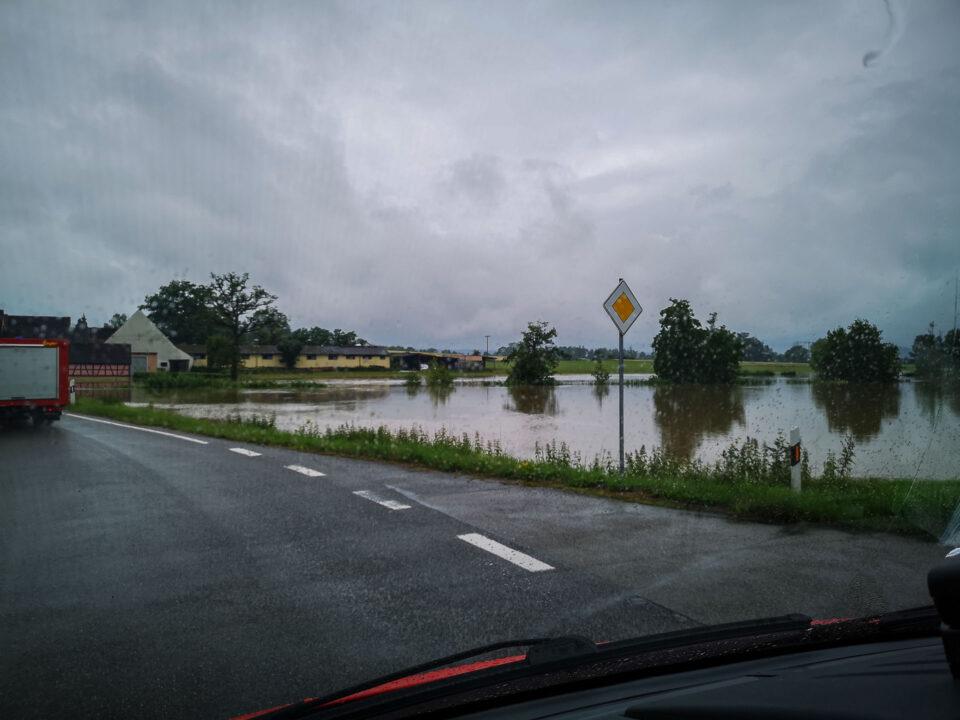 Hochwasser in Zumhaus - Die Wörnitz